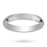 Mappin & Webb 3mm Heavy Court Ladies Wedding Ring In Palladium
