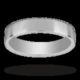 Mappin & Webb 4mm Light Low Domed Ladies Wedding Ring In Palladium