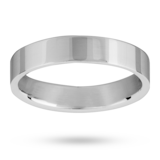 Mappin & Webb 4mm Low Domed Ladies Court Wedding Ring In Palladium