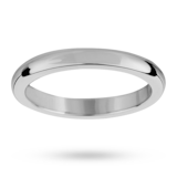 Mappin & Webb 2mm Flat Sided D Shape Ladies Wedding Ring In Palladium