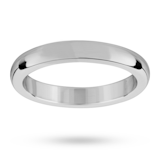 Mappin & Webb 3mm Flat Sided D Shape Ladies Wedding Ring In Palladium