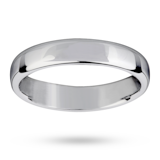 Mappin & Webb 4mm Light Flat Comfort Fit Ladies Court Ring In Palladium