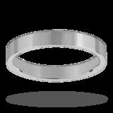 Mappin & Webb 3mm Flat Top Medium Weight Ladies Court Ring In Palladium