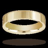 Mappin & Webb 4mm Flat Top Medium Weight Ladies Court Ring In Palladium