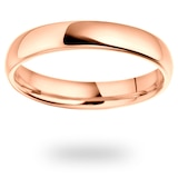 Mappin & Webb 18ct Rose Gold 3mm Standard Court Wedding Ring