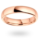 Mappin & Webb 18ct Rose Gold 4mm Heavy Court Wedding Ring