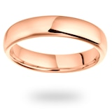 Mappin & Webb 18ct Rose Gold 5mm Luxury Court Wedding Ring