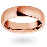 Mappin & Webb 18ct Rose Gold 7mm Luxury Court Wedding Ring