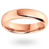 Mappin & Webb 18ct Rose Gold 5mm Luxury Modern Court  Wedding Ring