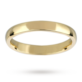 Mappin & Webb 3mm Medium Court Ladies Wedding Ring In 18 Carat Yellow Gold