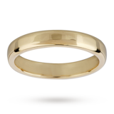 Mappin & Webb 3mm Flat Comfort Fit Ladies Court Ring In 18 Carat Yellow Gold