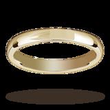 Mappin & Webb 2.5mm Medium Court Ladies Wedding Ring In 18 Carat Yellow Gold