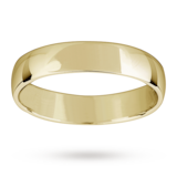 Mappin & Webb 4mm Lightest Court Ladies Wedding Ring In 18 Carat Yellow Gold