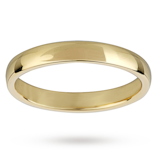 Mappin & Webb 3mm Light Court Ladies Wedding Ring In 18 Carat Yellow Gold