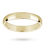 Mappin & Webb 3.5mm Light Court Ladies Wedding Ring In 18 Carat Yellow Gold