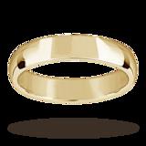 Mappin & Webb 4mm Light Court Ladies Wedding Ring In 18 Carat Yellow Gold