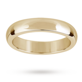 Mappin & Webb 18ct Yellow Gold 4mm Flat Sided D Shape Wedding Ring