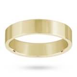 Mappin & Webb 5mm Flat Top Medium Weight Gents Court Ring In 18 Carat Yellow Gold