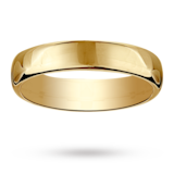 Mappin & Webb 4mm Flat Comfort Fit Ladies Court Ring In 18 Carat Yellow Gold