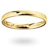 Mappin & Webb 18ct Yellow Gold 2.5mm Standard Modern Court  Wedding Ring