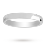 Mappin & Webb 3mm Medium Court Ladies Wedding Ring In 18 Carat White Gold