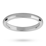 Mappin & Webb 2.5mm Heavy Court Ladies Wedding Ring In 18 Carat White Gold