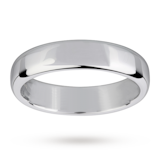 Mappin & Webb 5mm Flat Comfort Fit Gents Court Ring In 18 Carat White Gold