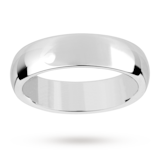 Mappin & Webb 6mm Heavy Court Gents Wedding Ring In 18 Carat White Gold