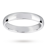 Mappin & Webb 3.5mm Light Court Ladies Wedding Ring In 18 Carat White Gold