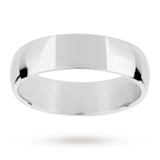 Mappin & Webb 6mm Light Court Gents Wedding Ring In 18 Carat White Gold