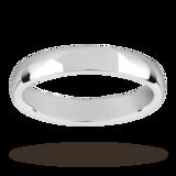 Mappin & Webb 3.5mm Medium Court Ladies Wedding Ring In 18 Carat White Gold