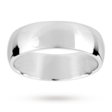 Mappin & Webb 7mm Medium Court Gents Wedding Ring In 18 Carat White Gold