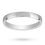 Mappin & Webb 2.5mm Light Low Domed Ladies Wedding Ring In 18 Carat White Gold