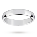 Mappin & Webb 4mm Light Flat Comfort Fit Ladies Court Ring In 18 Carat White Gold
