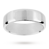 Mappin & Webb 7mm Flat Comfort Fit Gents Court Ring In 18 Carat White Gold