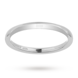 Mappin & Webb 2mm Heavy Court Ladies Wedding Ring In 18 Carat White Gold