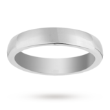 Mappin & Webb 4mm Heavy Court Ladies Wedding Ring In 18 Carat White Gold