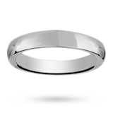 Mappin & Webb 5mm Heavy Court Gents Wedding Ring In 18 Carat White Gold
