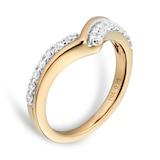 Goldsmiths 18ct Yellow Gold 0.25 Total Carat Weight Diamond Set Shaped Band