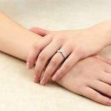 Goldsmiths Platinum 0.40cttw Diamond Mixed Cut Wedding Ring