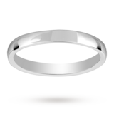 Mappin & Webb 2.5mm Light Court Ladies Wedding Ring In Platinum