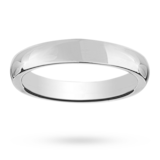 Mappin & Webb 6mm Heavy Court Gents Wedding Ring In Platinum