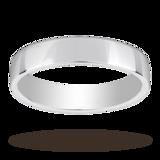 Mappin & Webb Platinum 4mm Light Low Domed Wedding Ring