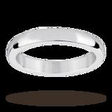Mappin & Webb Platinum 3mm Flat Sided D Shape Wedding Ring