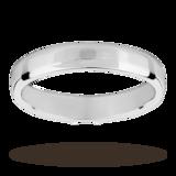 Mappin & Webb Platinum 3.5mm Light Flat Comfort Fit Wedding Ring