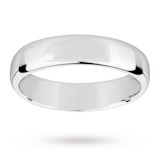 Mappin & Webb Platinum 5mm Light Flat Comfort Fit Wedding Ring