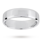 Mappin & Webb 6mm Light Flat Comfort Fit Gents Court Ring In Platinum