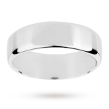 Mappin & Webb 7mm Light Flat Comfort Fit Gents Court Ring In Platinum