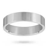 Mappin & Webb 5mm Flat Top Medium Weight Gents Court Ring In Platinum
