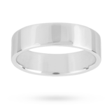 Mappin & Webb 6mm Flat Top Medium Weight Gents Court Ring In Platinum